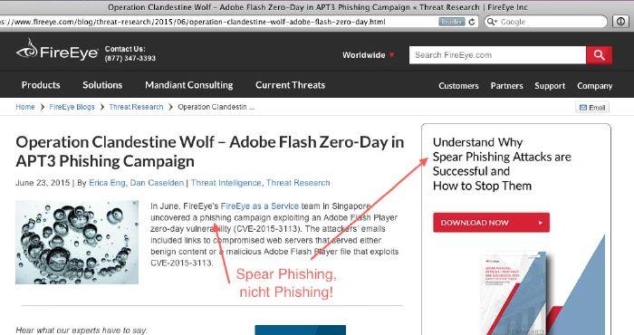 Abb. 1: Phishing und Spear Phishing sollte man nicht verwechseln