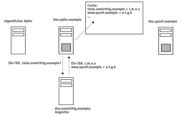 DNS-Spoofing: Cache Pollution